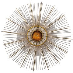 Curtis Jere Brass Wall Sculpture