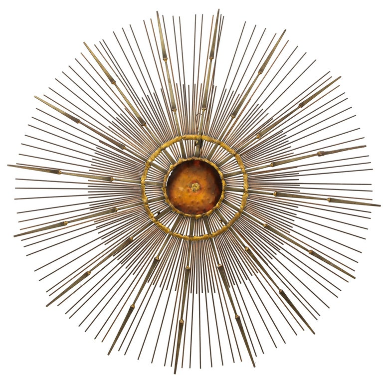 Curtis Jere Brass Wall Sculpture For Sale
