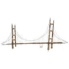 Curtis Jere Brutalist Golden Gate Wall Sculpture