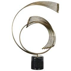 Curtis Jere Brutalist Spiral Table Sculpture, 1980s