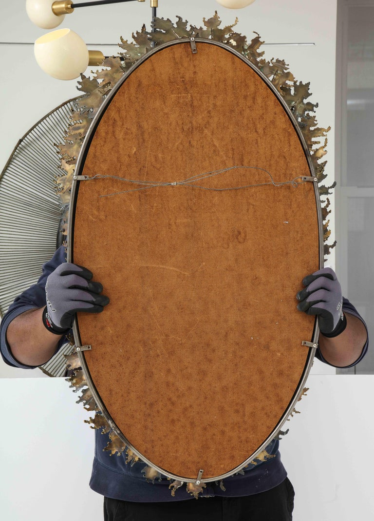 Curtis Jere Brutalist Wall Mirror For Sale 7