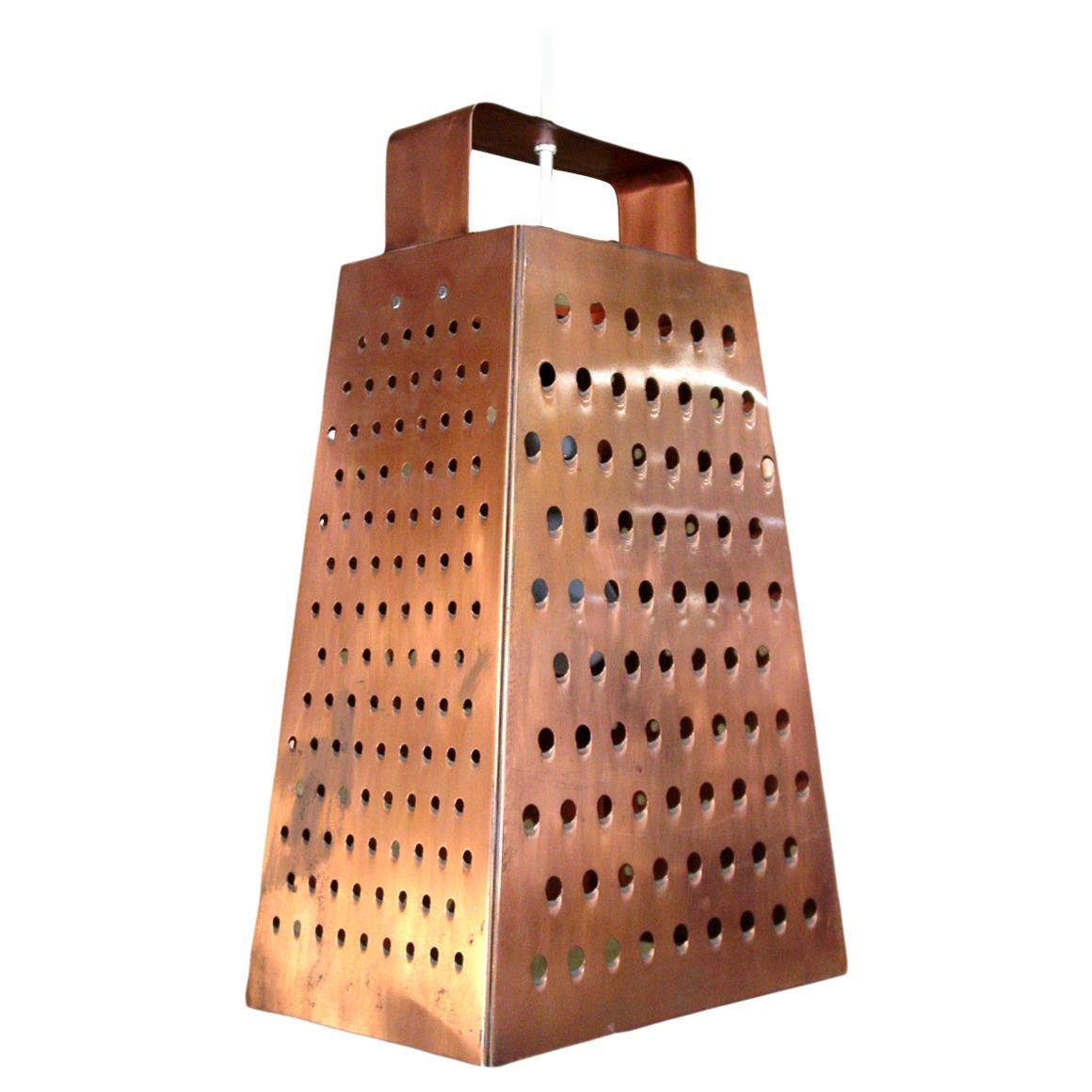Curtis Jere Cheese Grater Hanging Chandelier
