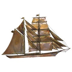 Curtis Jere Copper Sailing Ship from 1972