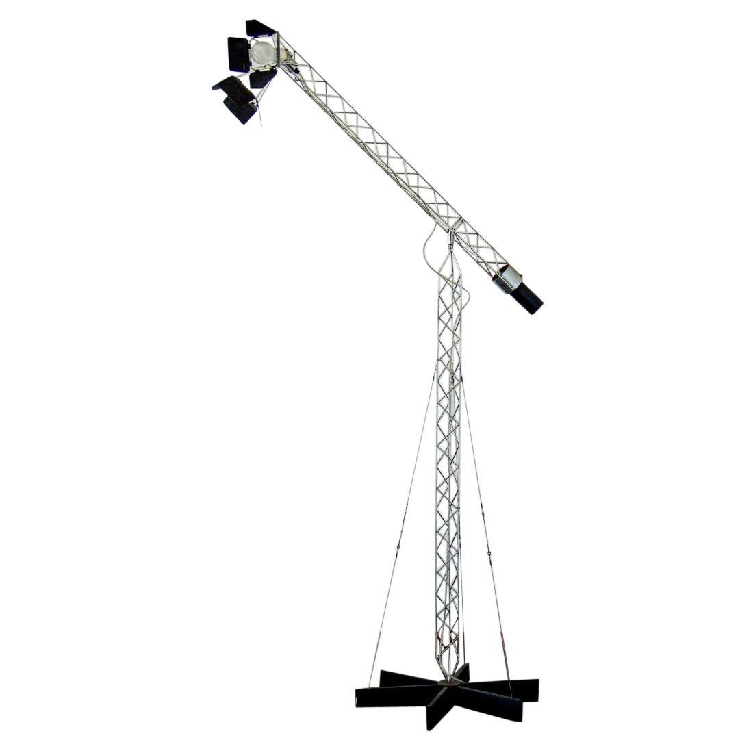 Curtis Jere Crane Floor Lamp, USA, 1970s