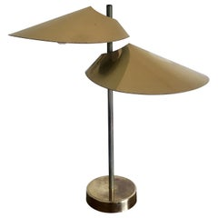 Curtis Jere Double Visor Shade Lamp, 1960's