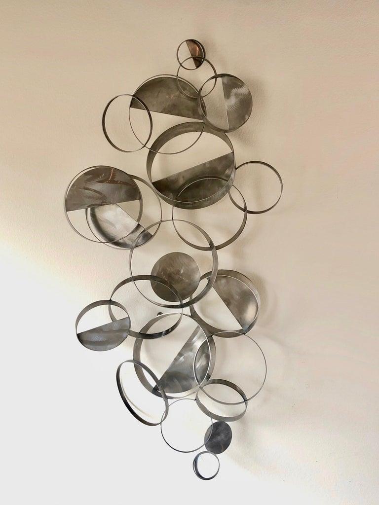 Modern Curtis Jere Floating Ring Sculpture For Sale