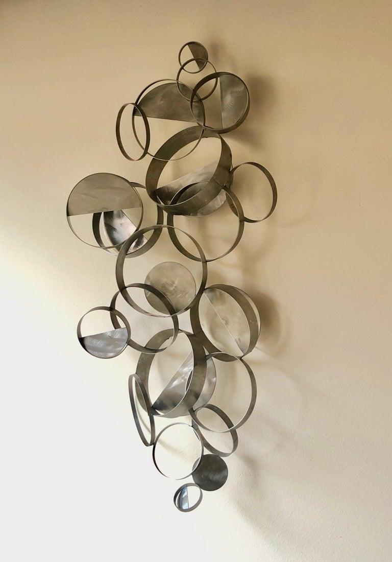 Steel Curtis Jere Floating Ring Sculpture For Sale