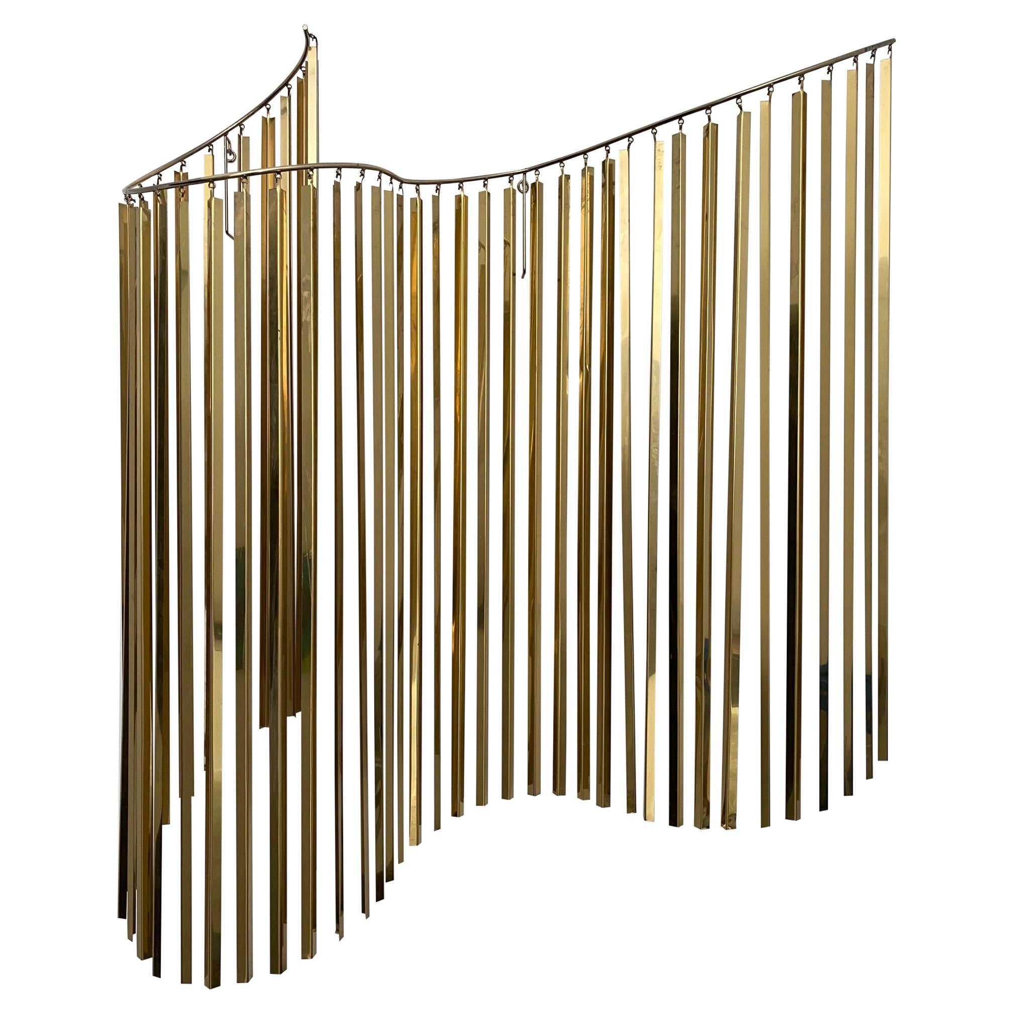 Curtis Jere Kinetic Wave Wall Sculpture