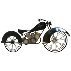 Curtis Jere Metal Motorcycle Wall Art Sculpture