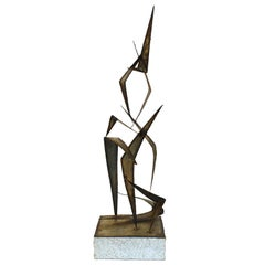 Curtis Jere Midcentury Brutalist Welded and Torched Metal Sculpture