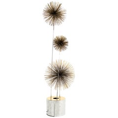 Curtis Jere Mid Century Pom Urchin Lighted Floor Sculpture
