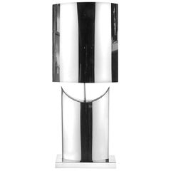 Curtis Jere Mirror Polished Stainless Steel Table Lamp