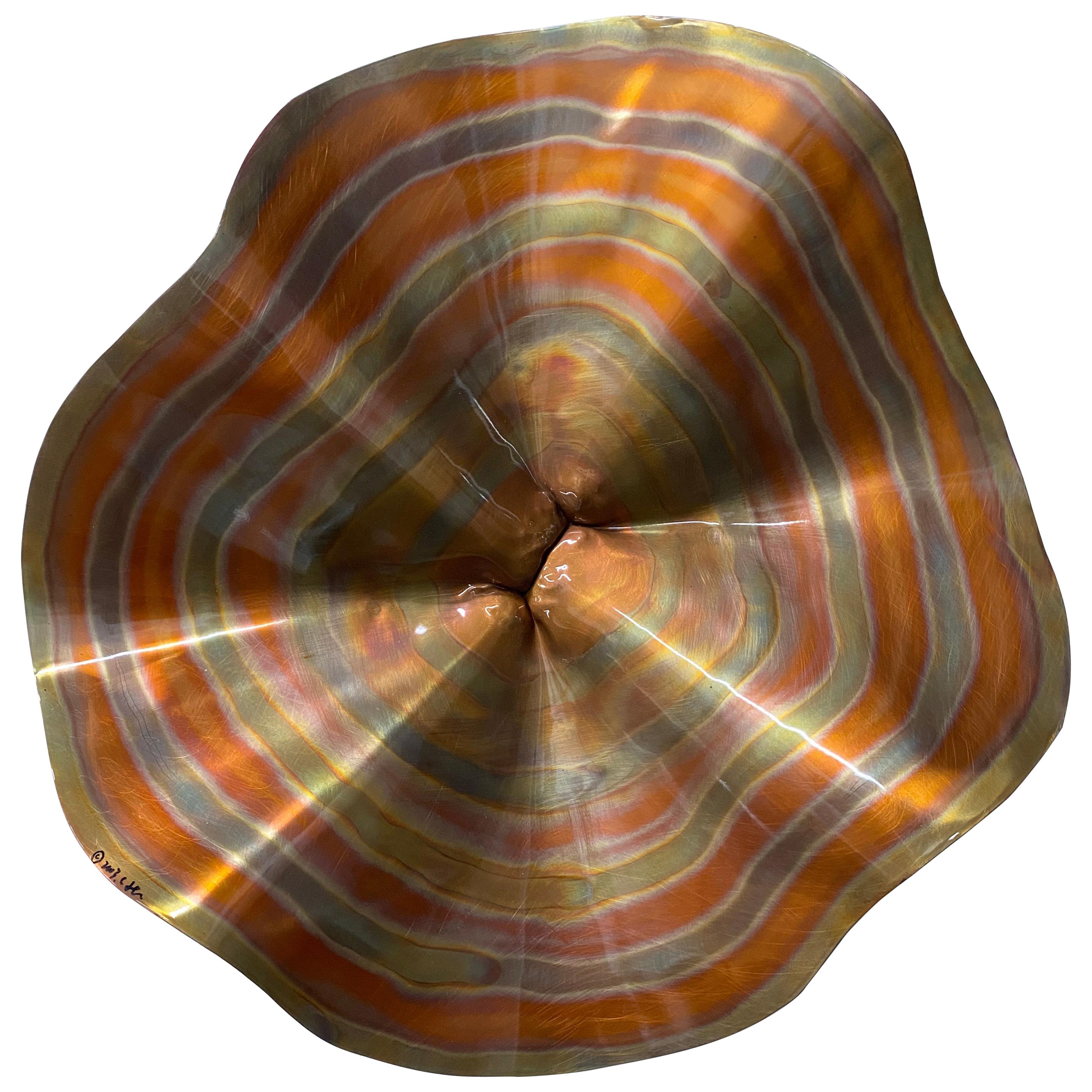 Curtis Jere Modern Copper Wall Sculpture, 2003