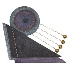 Curtis Jeré, Modern Wall Sculpture Signed 1993 of Abstract Design
