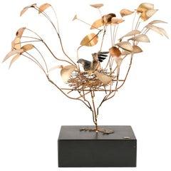 Curtis Jere Nesting Bird Sculpture