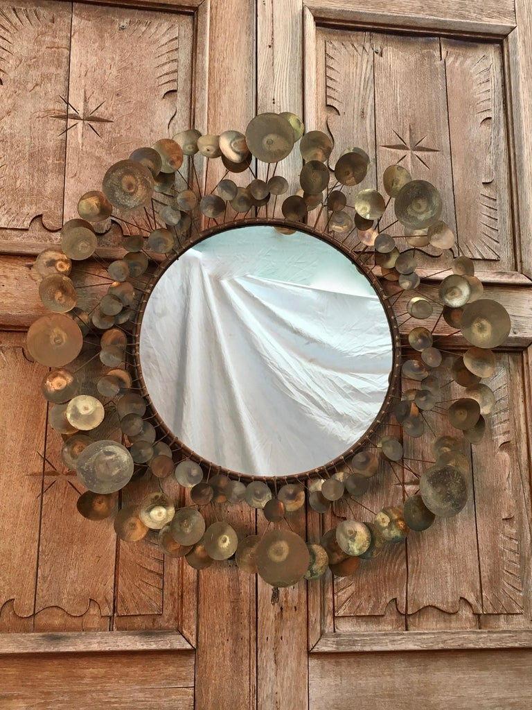 Curtis Jere Raindrops Mirror, 1968 For Sale 8