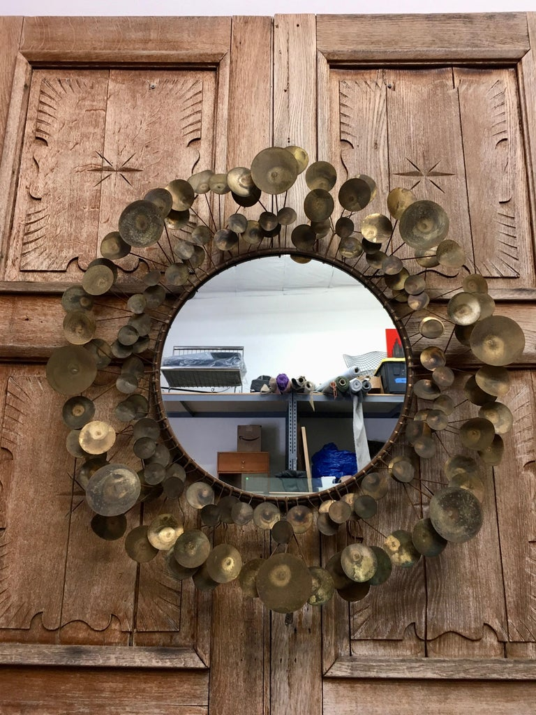 Curtis Jere Raindrops Mirror, 1968 For Sale 2