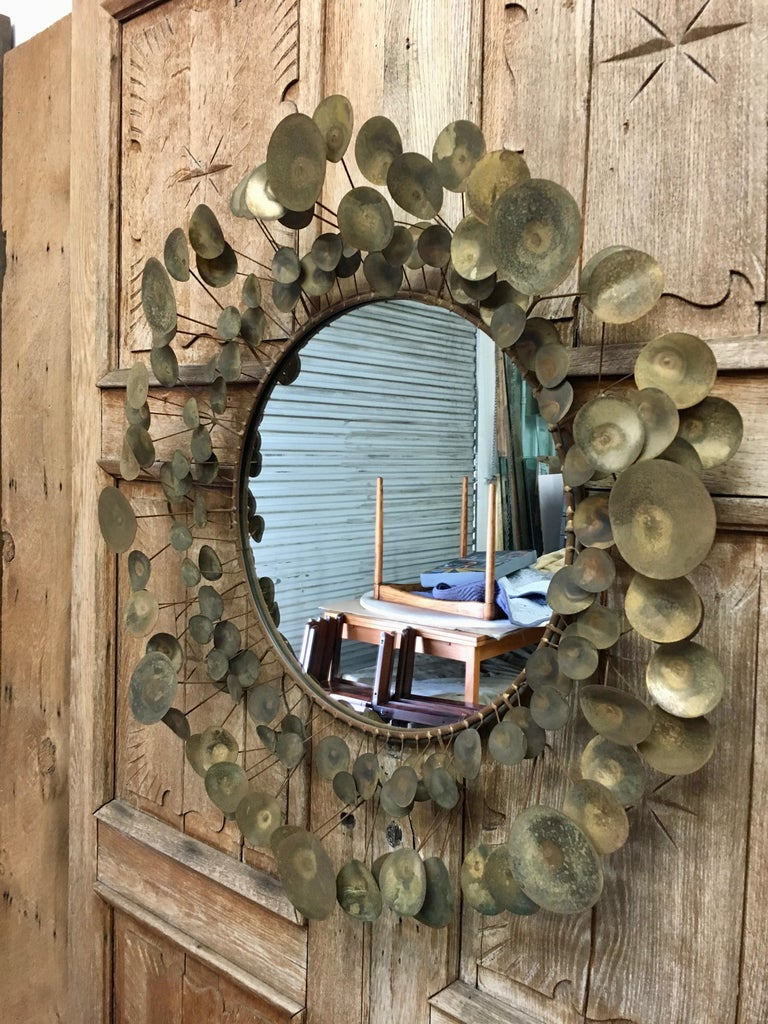 Curtis Jere Raindrops Mirror, 1968 For Sale 3