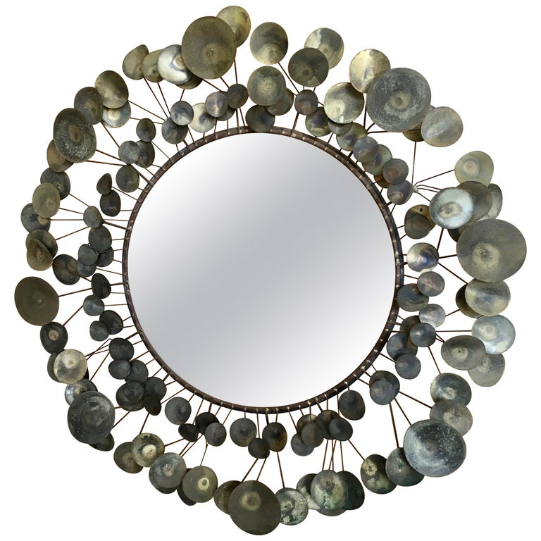 Curtis Jere Raindrops Mirror, 1968 For Sale