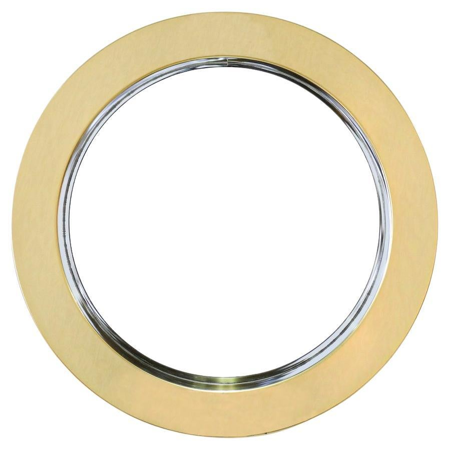 Curtis Jere Round Brass Wall Mirror for Artisan House