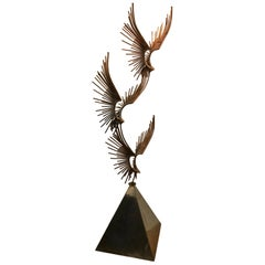 Curtis Jere Sculpture of Eagle in Flight