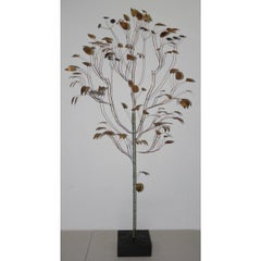 Curtis Jere Copper Metalwork Free Standing Tree c.1967
