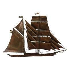 Curtis Jere Ship Sculpture