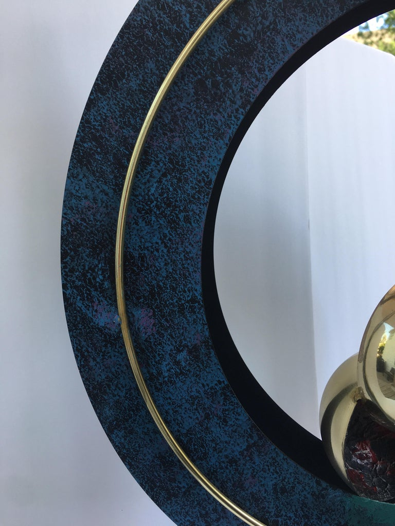 Curtis Jere Sphere and Circle Table Sculpture, 1990s In Good Condition For Sale In Lambertville, NJ