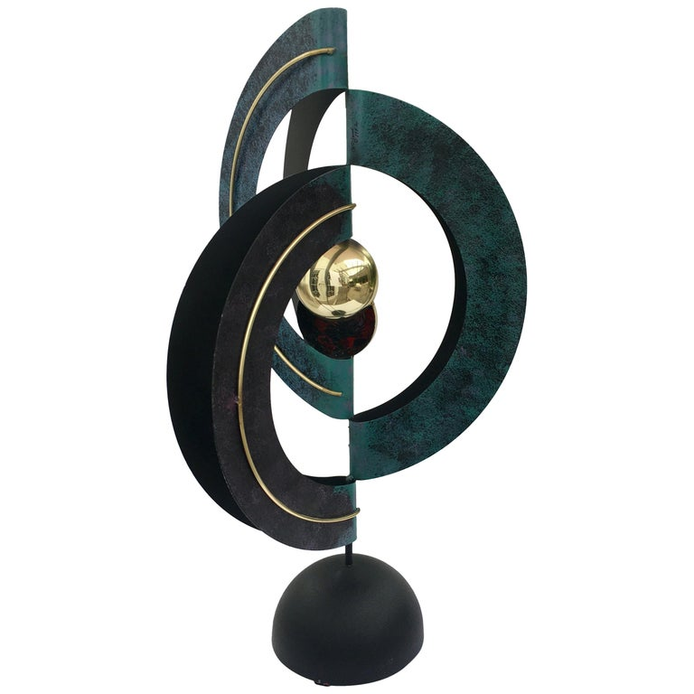 Curtis Jere Sphere and Circle Table Sculpture, 1990s For Sale