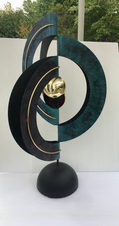 Curtis Jere Sphere and Circle Table Sculpture, 1990s