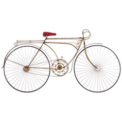 Curtis Jere Ten Speed Racing Bicycle Metal and Wood Mounted Wall Sculpture, 1986