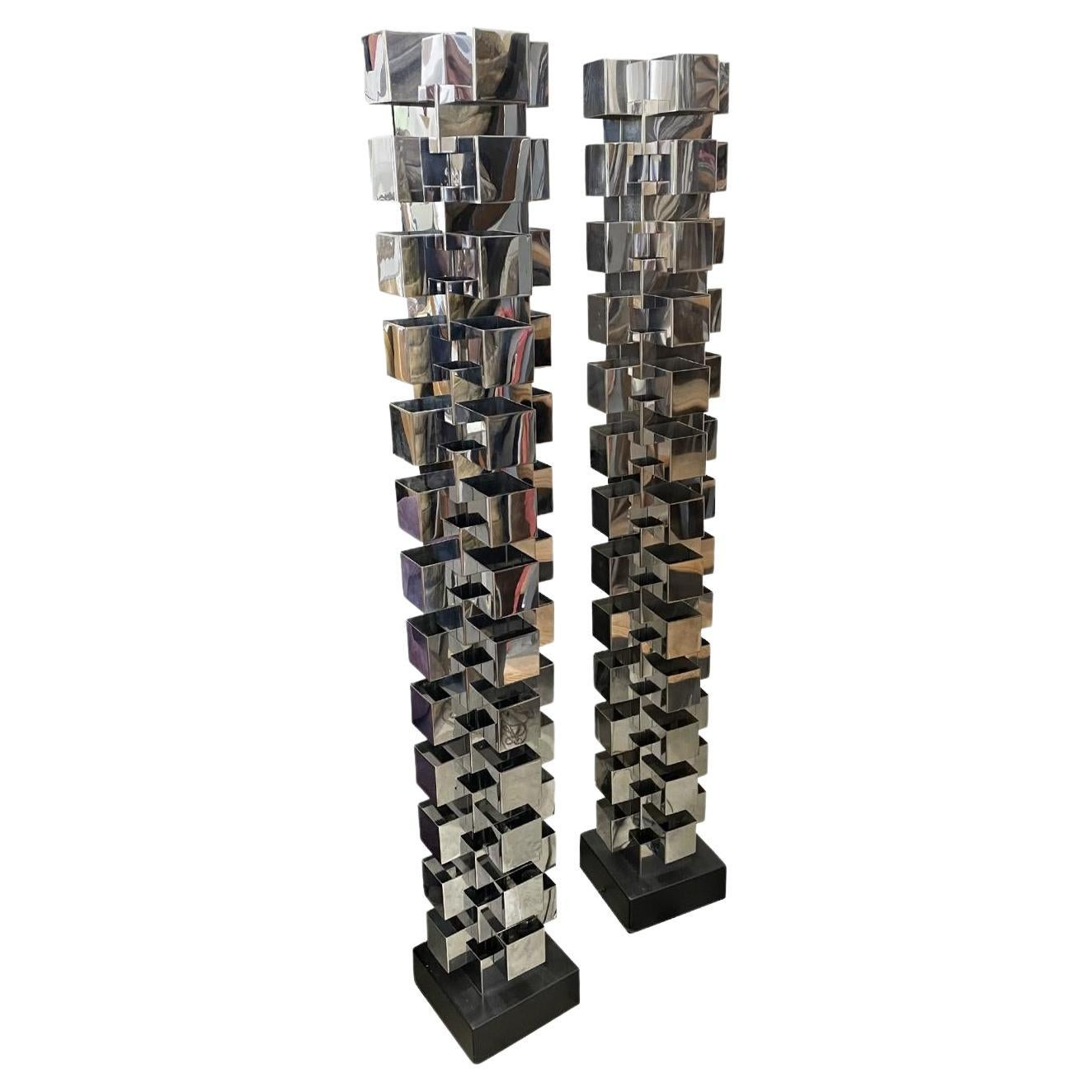 Curtis Jere Tower Floor Lamps