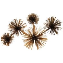 Curtis Jere Wall Sea Urchin Sculpture