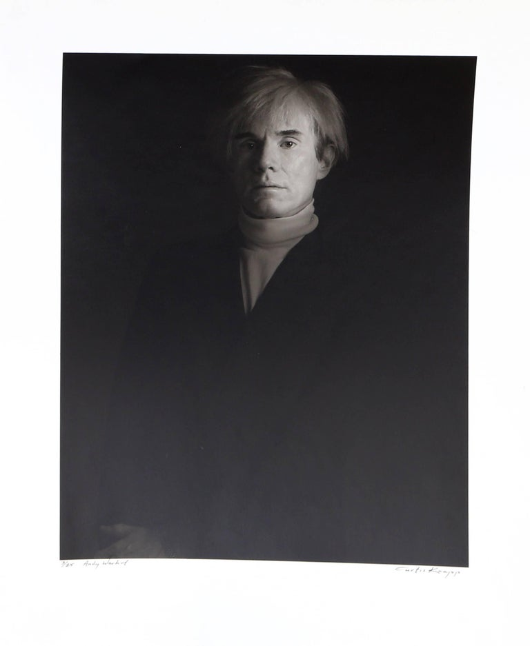 Artist: Curtis Knapp, American Title: Andy Warhol Year: 1983 (printed 1991) Medium: Silver Print on Fiber Paper, signed and numbered in ink Edition: 25  Size: 17 in. x 14 in. (43.18 cm x 35.56 cm)