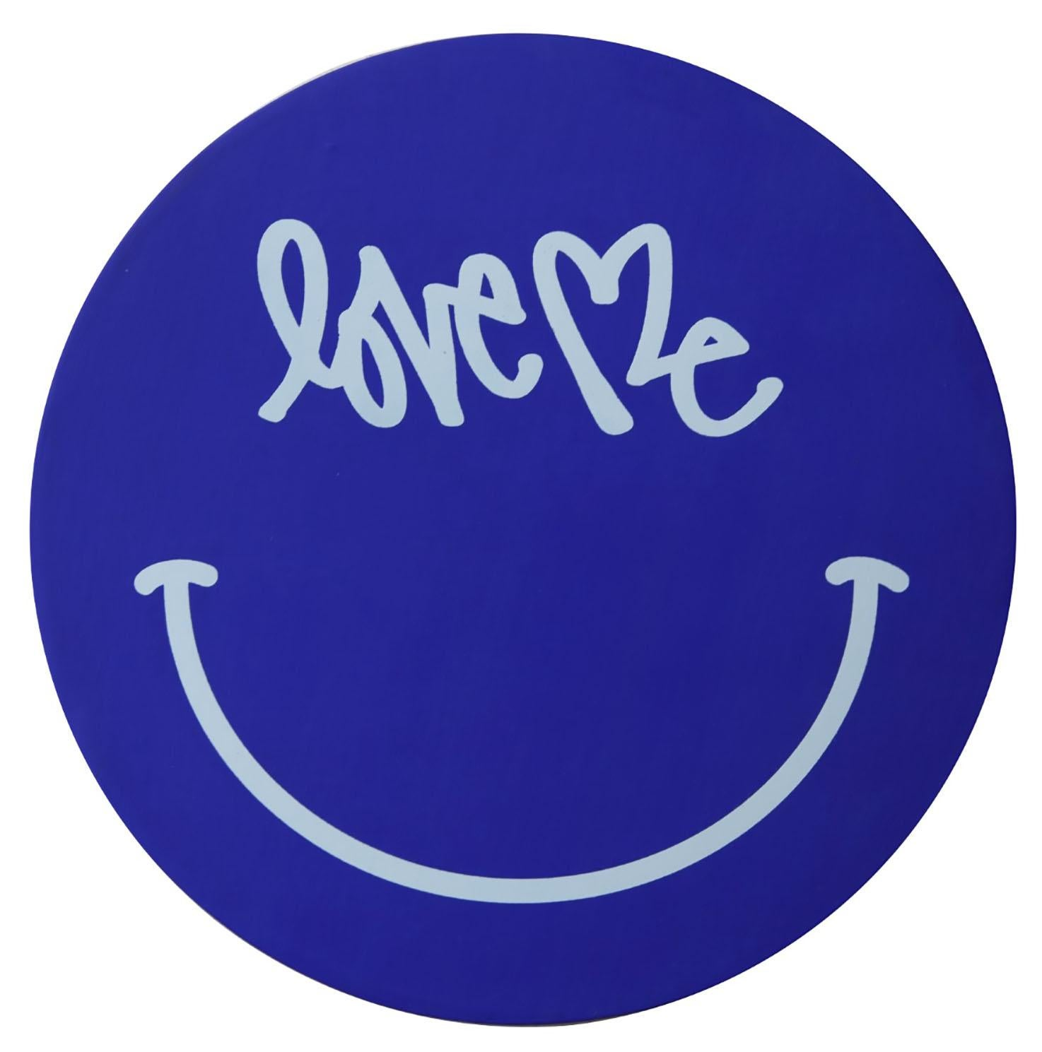 Curtis Kulig Love Me Painting (Curtis Kulig Love Me Smiley canvas)