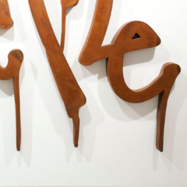 Curtis Kulig Love Me Steel Sculpture For Sale At 1stdibs
