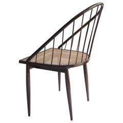 "Mid-Century Modern ""Curva"" Chair by Brazilian Designer Joaquim Tenreiro, 1960s"