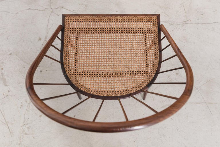 Cane Curva Chair by Joaquim Tenreiro, 1960s, Brazilian Midcentury Design For Sale