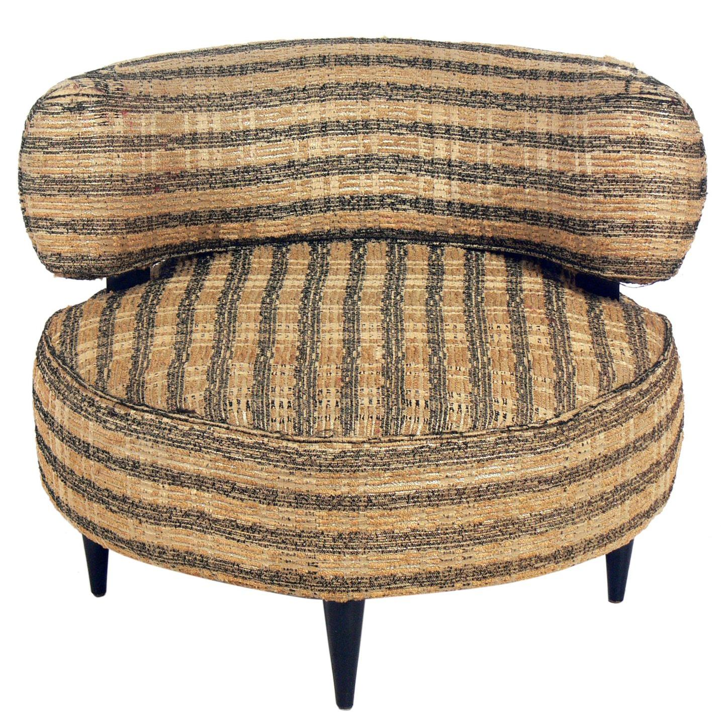 Curvaceous 1940s Lounge Chair