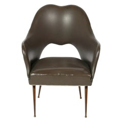 Curvaceous Italian Mid Century Lounge Chair