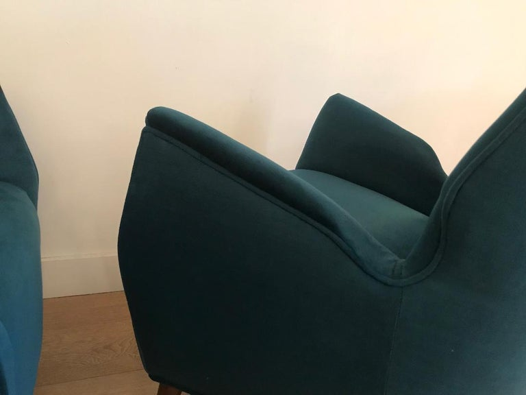 20th Century Mid-Century Modern Italian Low Club Chairs For Sale