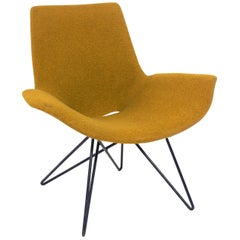 Curvaceous Midcentury Chair Attributed to Martin Eisler
