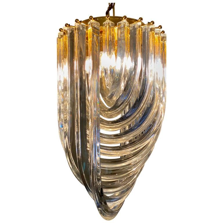 Curvati Murano Glass Chandelier For Sale