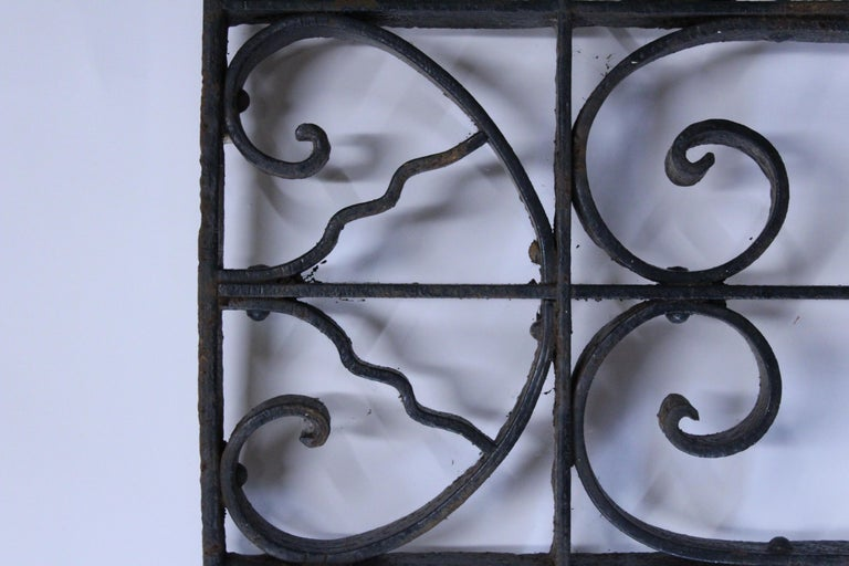 Cast Curved Antique Victorian Iron Gate For Sale