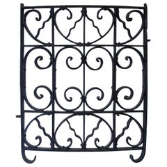 Curved Antique Victorian Iron Gate