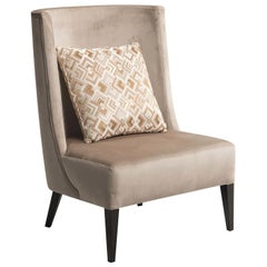 Curved Back Armchair