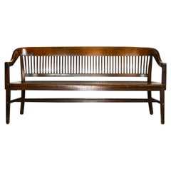 Curved Back Courtroom Bench
