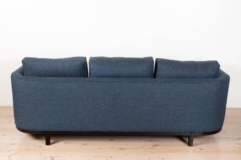 Oak Curved Back Sofa by Lawson-Fenning For Sale