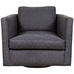 Curved Back Swivel Chair by Lawson-Fenning