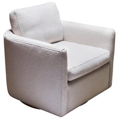 Curved Back Swivel Chair by Lawson-Fenning